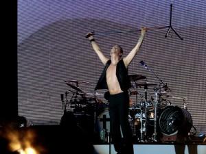 Depeche Mode, Stadio Olimpico. Roma, 16 giugno 2009. Foto di Mistress F, tratta da Flickr