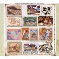 Phantom Buffalo- Cement Postcard With Owl Colours