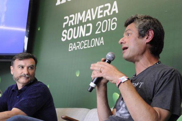 due dei tre organizzatori del festival Primavera Sound - foto di Ivan Masciovecchio