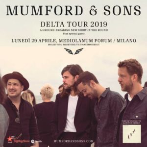 mumford and sons unico concerto italia 2019 milano