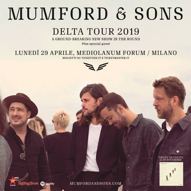 mumford and sons unico concerto italia 2019 milano