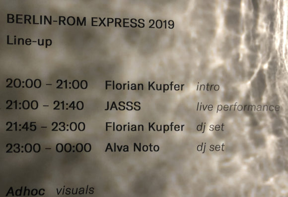 rom berlin express 2019 line-up